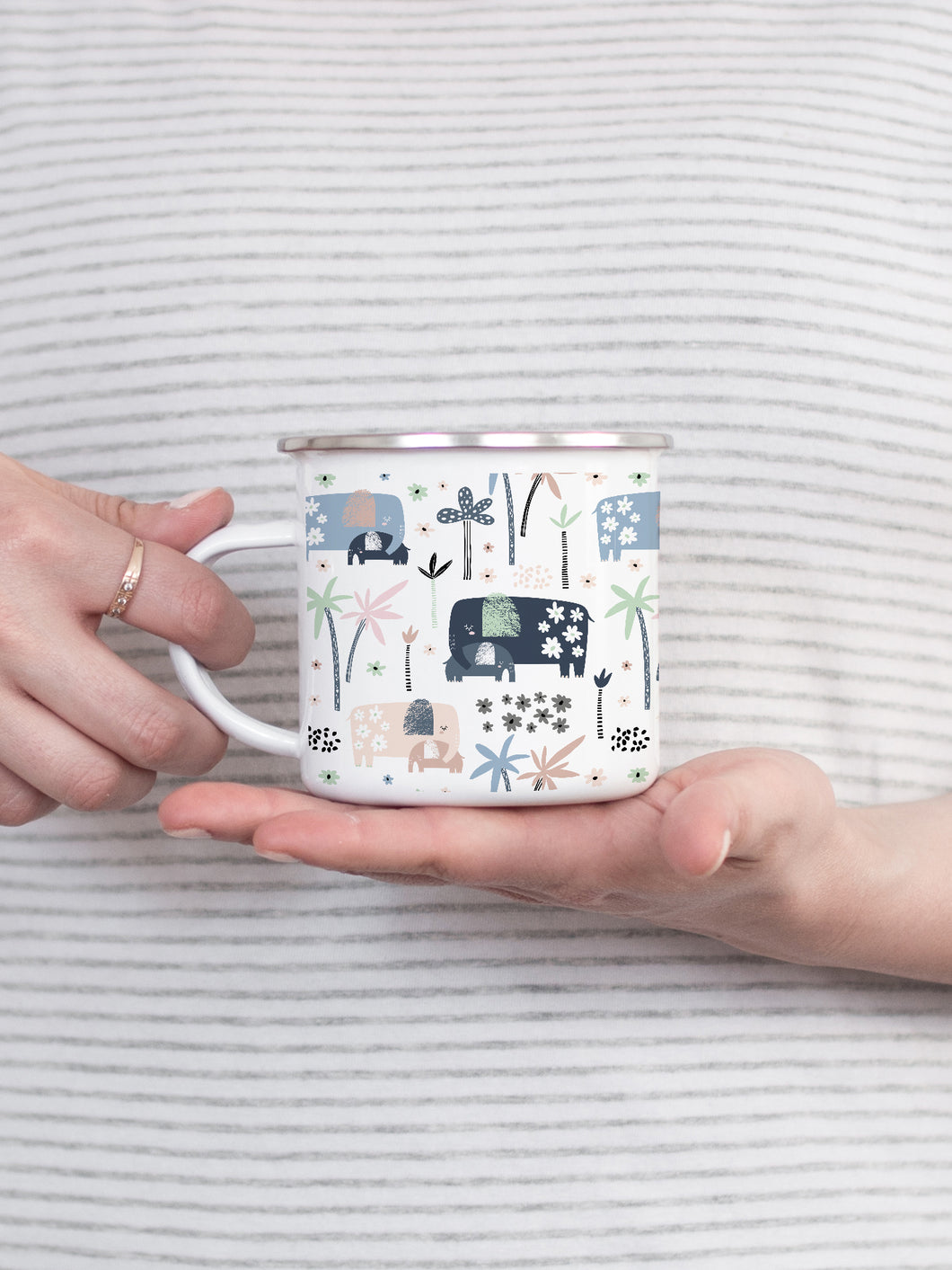 Elephants - Enamel Mug