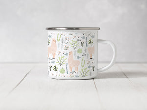 Pink Llamas in my dreams - Enamel Mug
