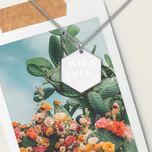 Load image into Gallery viewer, Wild Thing Hexagon Pendant Necklace - Sovende Bjorn