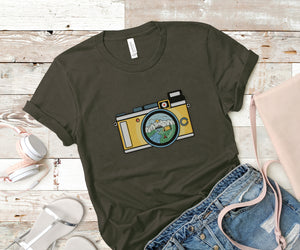 Campsite Camera Soft Casual Tee - Sovende Bjorn