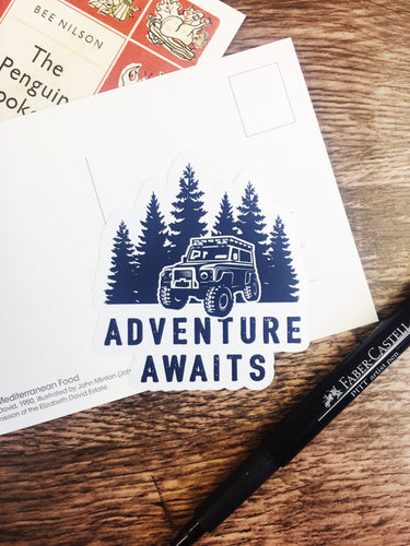 Adventure Awaits 4x4 Sticker