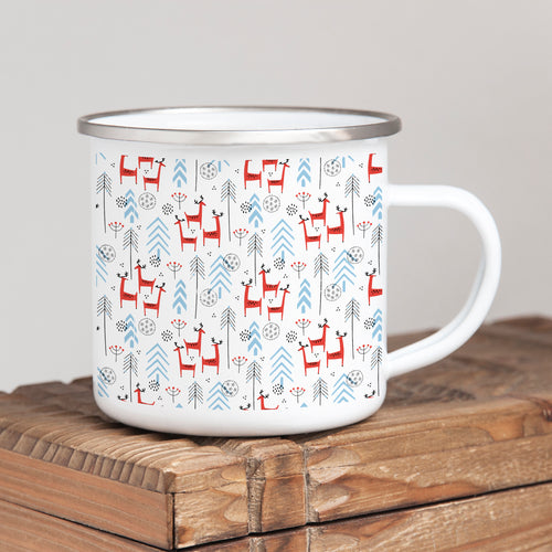 Reindeers in the woods - Christmas Enamel Mug