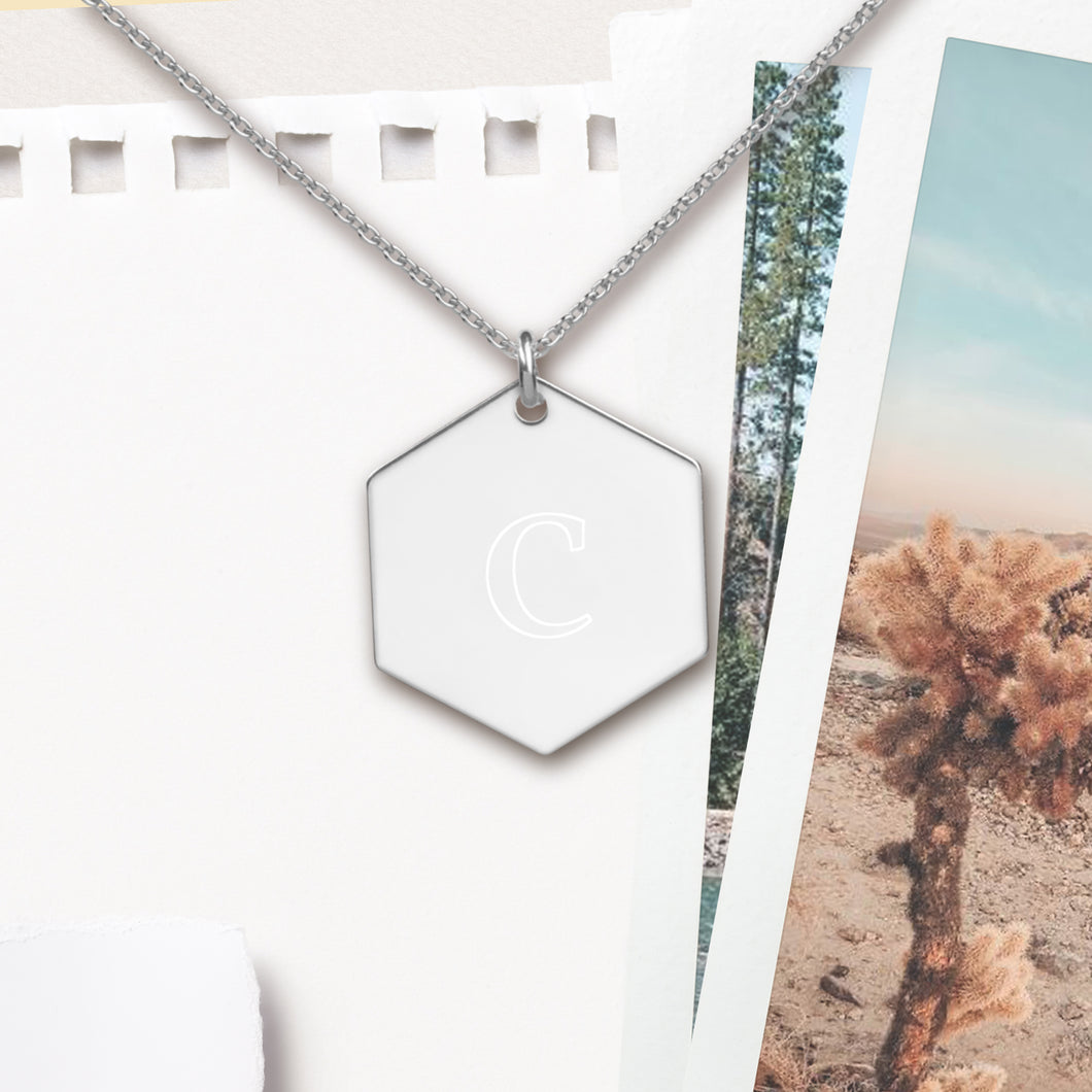 Copy of Custom Initial Letter Hexagon Pendant Necklace - Sovende Bjorn