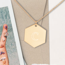Load image into Gallery viewer, Copy of Custom Initial Letter Hexagon Pendant Necklace - Sovende Bjorn