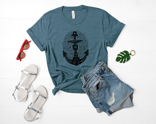 Anchor Soft Casual Tee - Sovende Bjorn