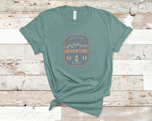 And So The Adventure Begins Soft Casual Tee - Sovende Bjorn