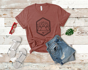 Mountains Soft Casual Tee - Sovende Bjorn