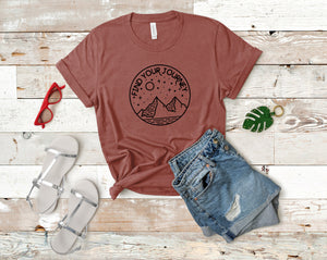 Find Your Journey Soft Casual Tee - Sovende Bjorn