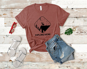 Explore More Soft Casual Tee - Sovende Bjorn