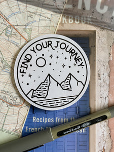 Find Your Journey Sticker - Sovende Bjorn
