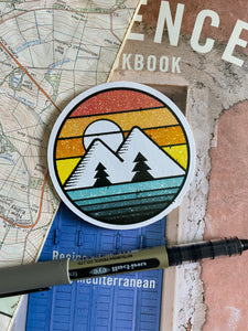 Mountains Sticker - Sovende Bjorn