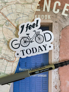 I Feel Good Today, Cycling Sticker - Sovende Bjorn
