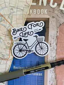 Bike for Life, Cycling Sticker - Sovende Bjorn