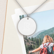Load image into Gallery viewer, Custom Initial Letter Pendant Necklace - Sovende Bjorn