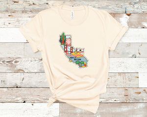 California Soft Casual Tee - Sovende Bjorn
