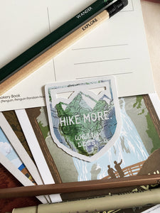 Hike More Worry Less Sticker