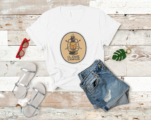 I Love Camping Soft Casual Tee - Sovende Bjorn
