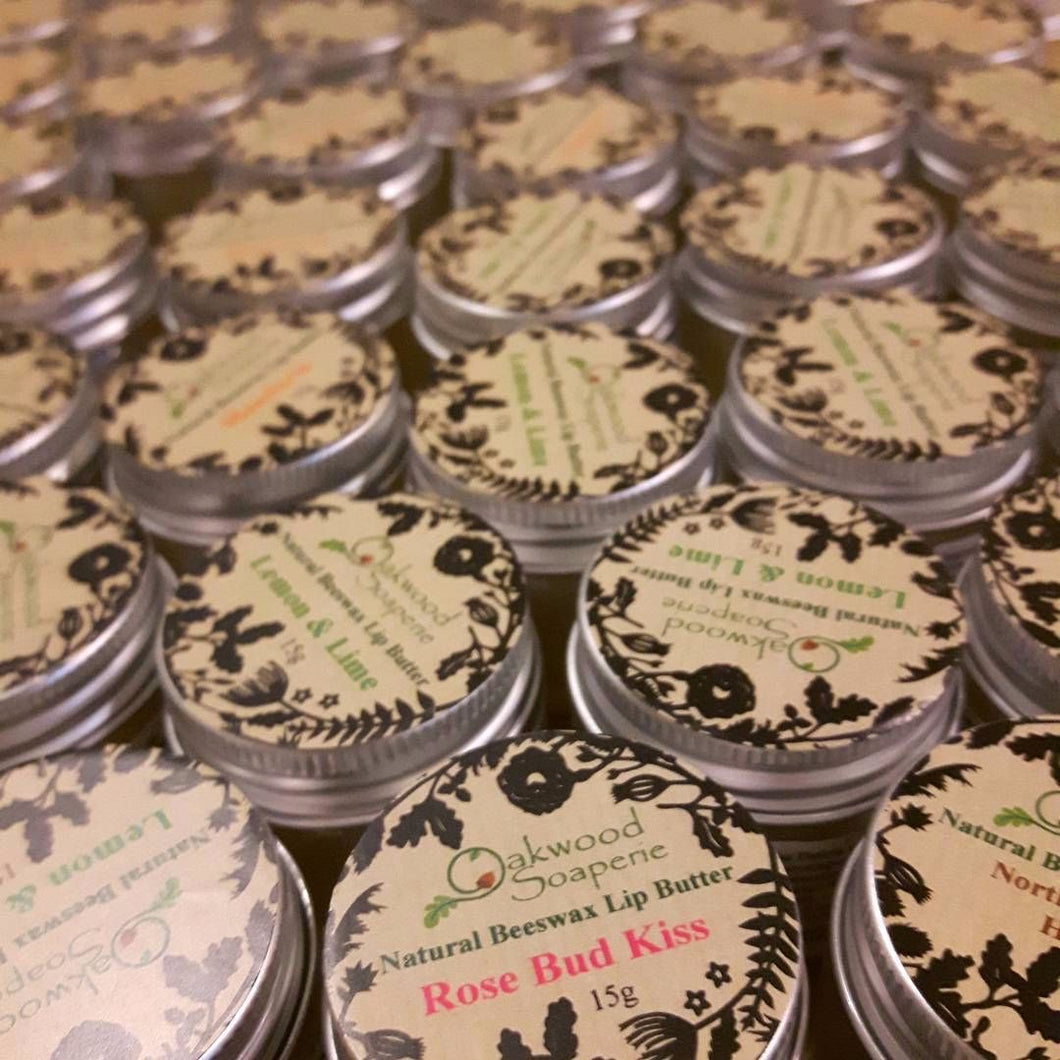 Lip Butter, made with Beeswax & 100% Natural Essential Oils