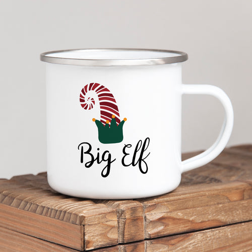 Big Elf - Christmas Enamel Mug