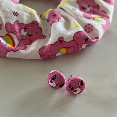 CareBear Scrunchie and Earring Set