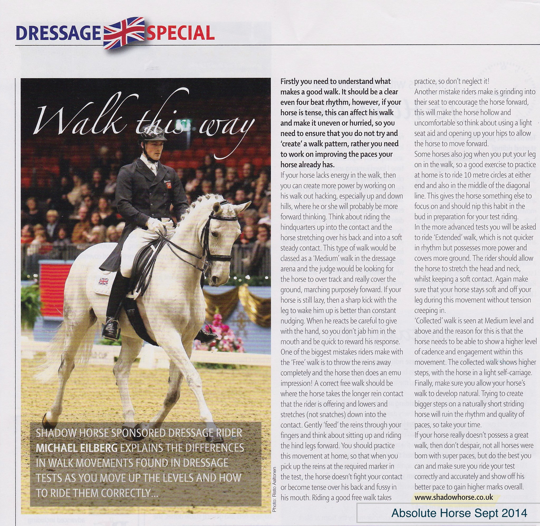 Michael Eilberg explains the different types of walk in Dressage tests