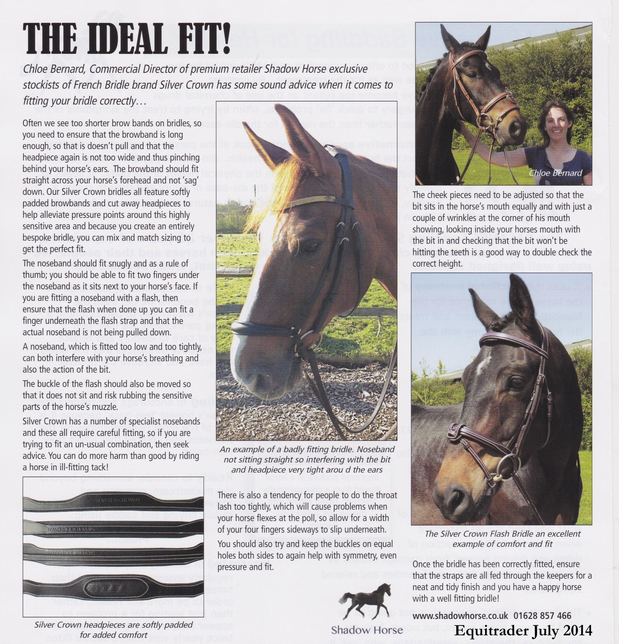 Chloe on achieving the ideal fit for your bridle