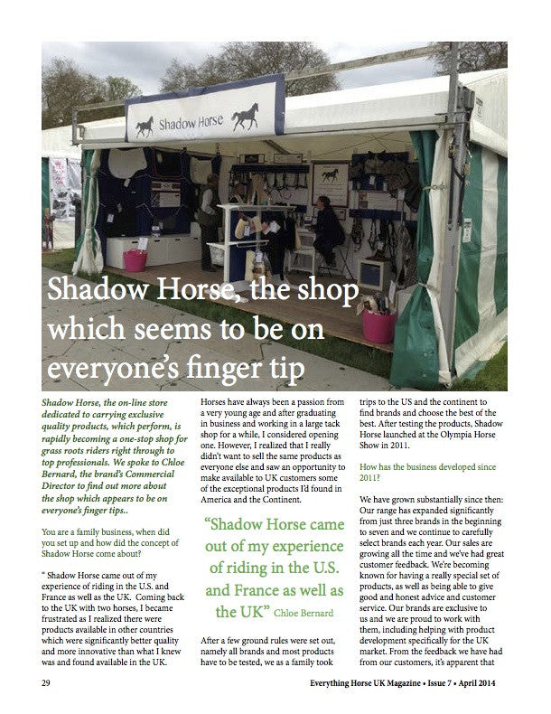 Background article on Shadow Horse