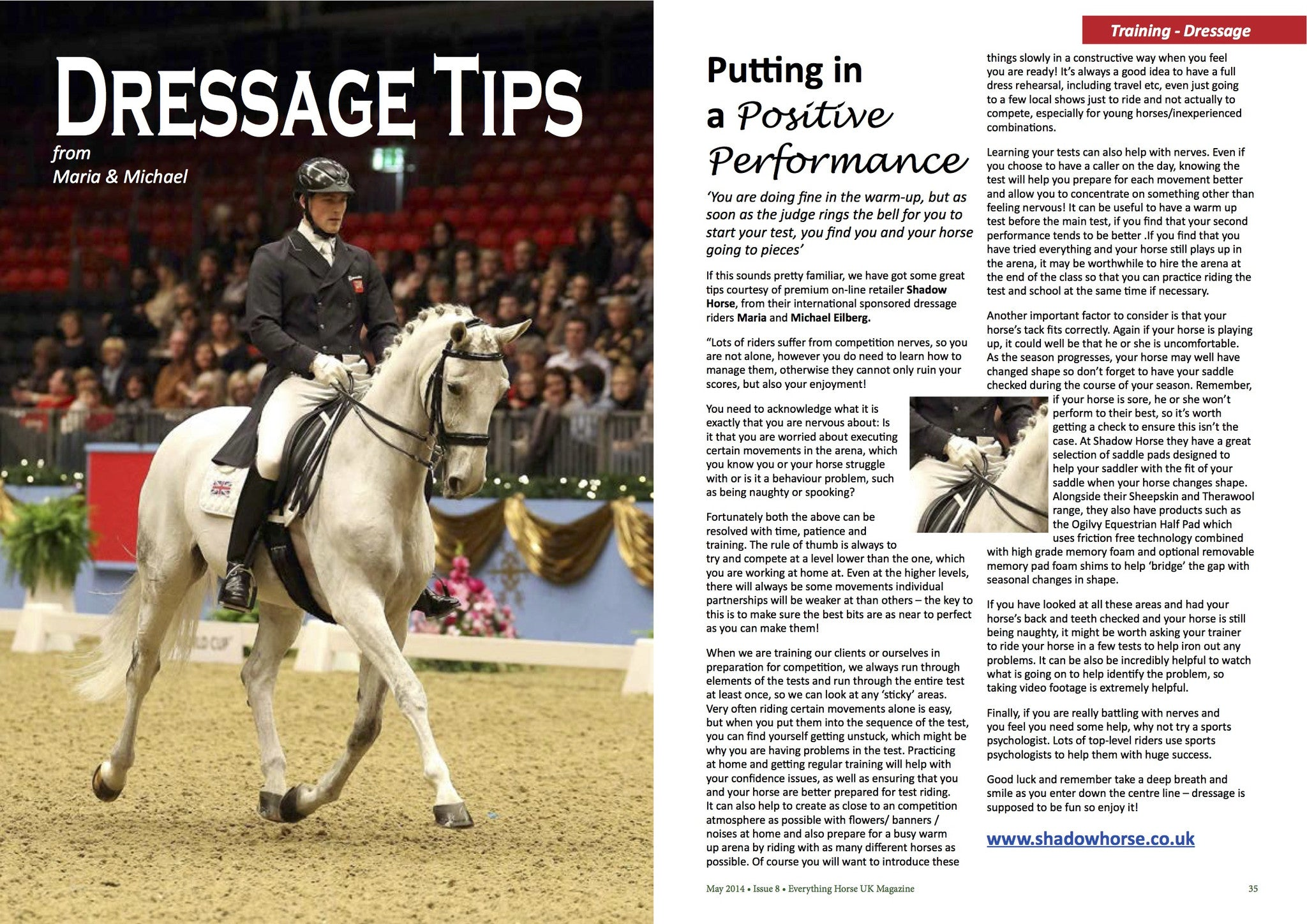 Maria & Michael Eilberg on handling the run-up to a Dressage competition
