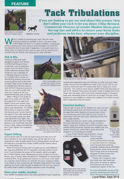 Chloe on ensuring your tack helps your horse look and perform at its best