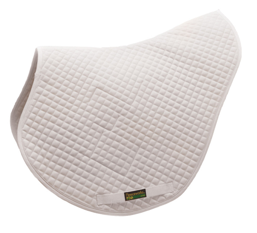 Fleeceworks bamboo-quilted x-country/eventing saddle pad