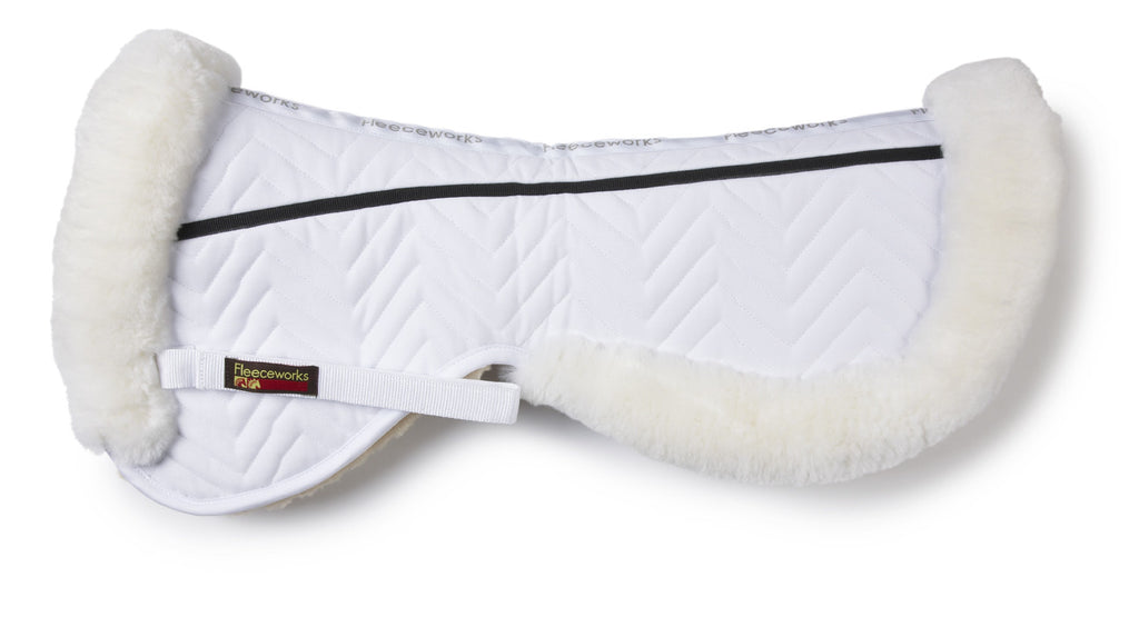 Fleeceworks FXK dressage half pad with rolled edge