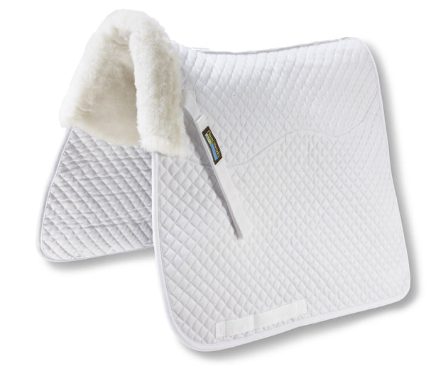 Fleeceworks Therawool dressage square pad