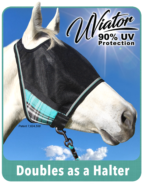 Kensington UViator fly mask with no nose or ears