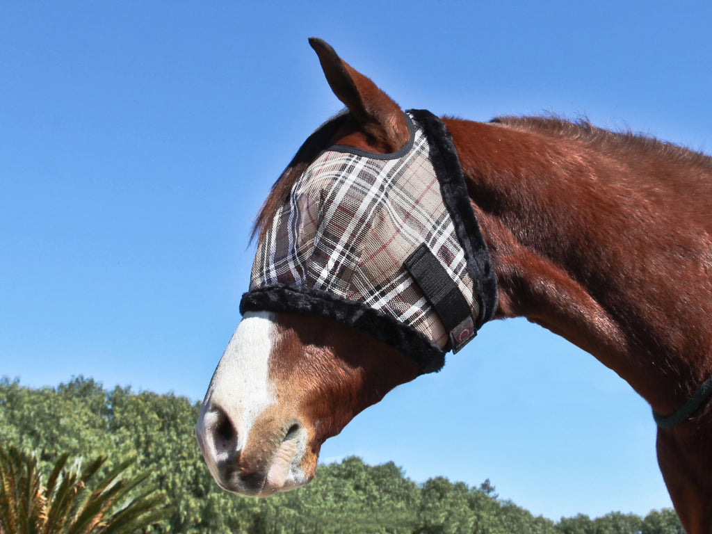 Kensington fly mask with fleece trim - no nose or ears
