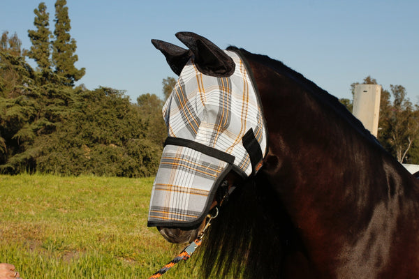 Kensington fly mask with removable nose piece & soft mesh ears