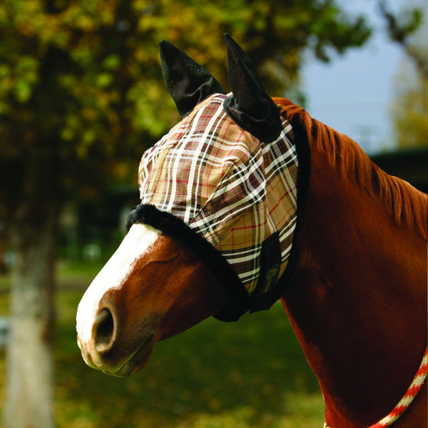 Kensington fly mask with fleece trim & soft mesh ears