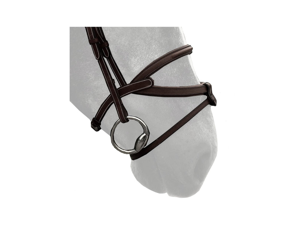 Silver Crown Brazilian noseband with removable flash