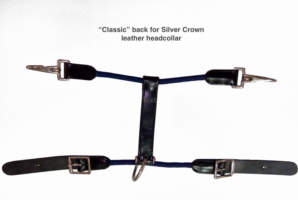 Classic back section for SC leather headcollar