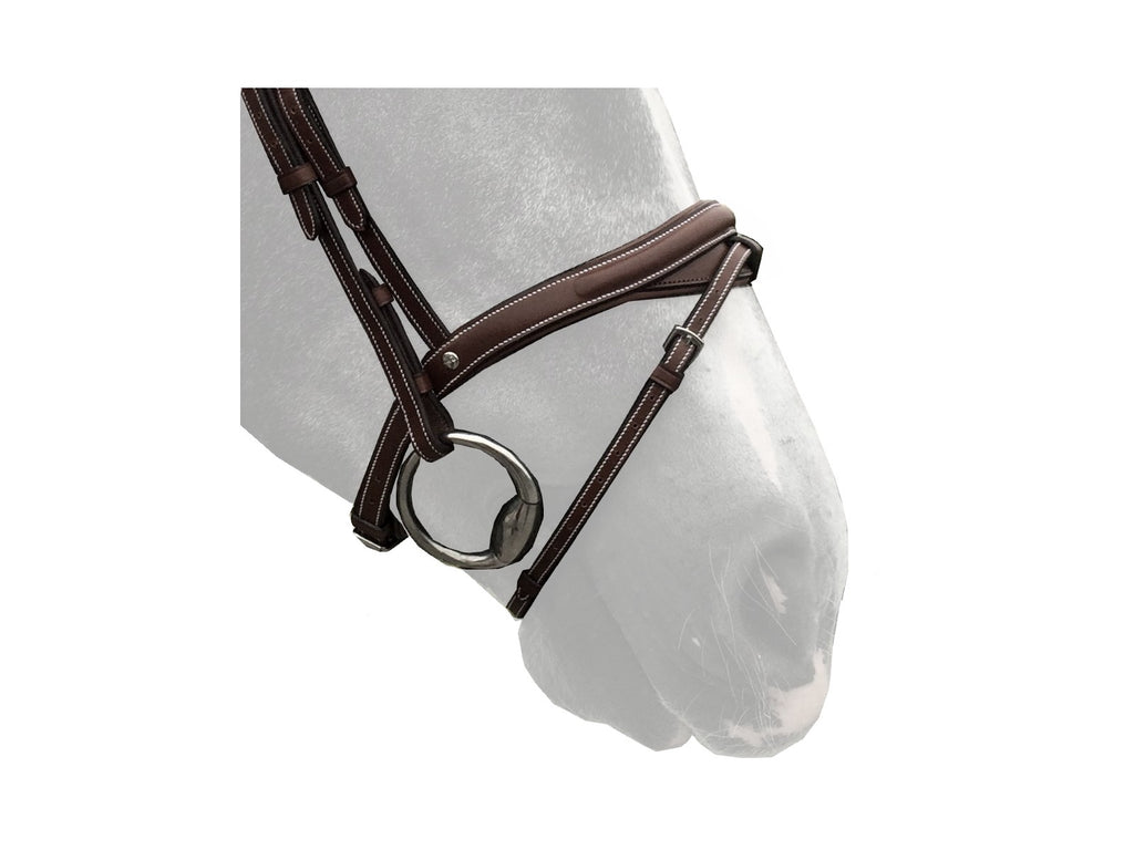 Silver Crown half-moon noseband with removable flash