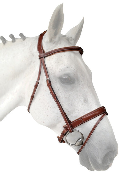 Silver Crown crank noseband with detachable flash