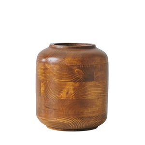 """Hardy"" Set of 2 - Wooden Vases"