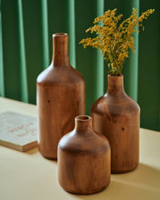 "Load image into Gallery viewer, The ""Bottlers"" Set of 3 - Wooden Vases"