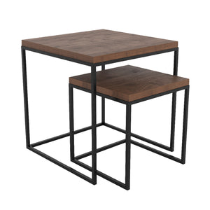 Cubicles - Wooden Top Tables - Black