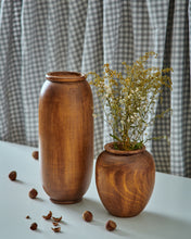 "Load image into Gallery viewer, ""Mr. & Mrs. Bean"" Set of 2 - Wooden Vases"