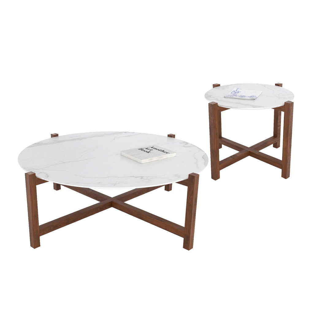 """O.W.T"" - Set of 2 - ""Not Marble"" Wooden Top"