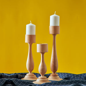 """Skyscrapers"" - Wooden Candle Holders SET"