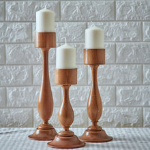 "Load image into Gallery viewer, ""Skyscrapers"" - Wooden Candle Holders SET"