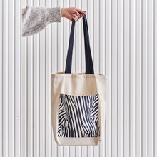 "Load image into Gallery viewer, ""ZEBRA"" Bag - Off White"