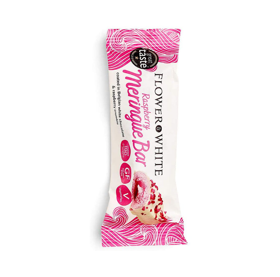 Flower & White Meringue Bar - White Choc & Raspberry 23.5g