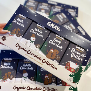 Gnaw Organic Chocolate Collection 4 x 100g